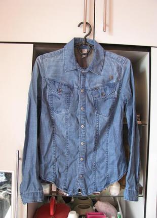 Джинсовая рубашка g-star raw