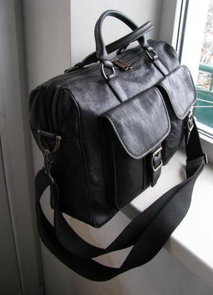 Кожаная сумка, портфель fossil