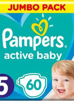 Подгузник Pampers Active Baby Junior Размер 5 (11-16 кг), 60 ш...