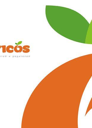 Логотип и фирменный стиль для интернет-магазина «Абрикос»