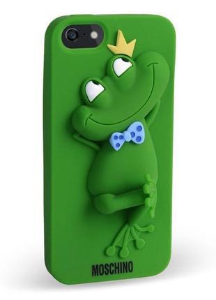 Чехол для iphone 4/4s жабка moschino