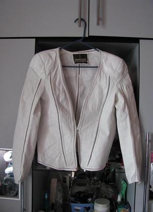 Кожаный жакет, куртка roberto cavalli