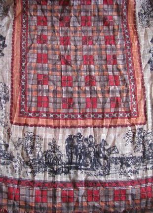 Палантин maya шерсть и шелк