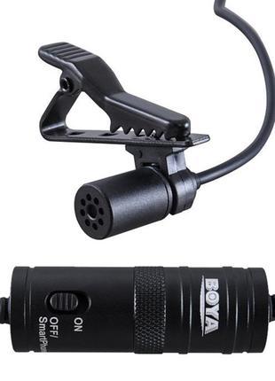 Петличный электретный конденсаторный микрофон Boya BY-M1 3,5мм...