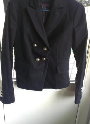 Шерстяной пиджак, жакет massimo dutti
