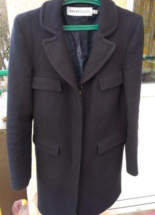 Шерстяное пальто see by chloe