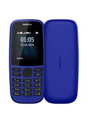 Мобильный телефон Nokia 105 SS 2019 Blue (16KIGL01A13)
