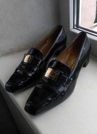 Кожаные туфли salvatore ferragamo