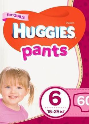 Подгузник Huggies Pants 6 для девочек (15-25 кг) 60 шт (502905...