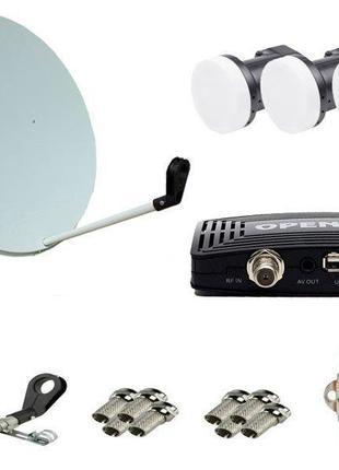 Комплект спутникового ТВ (ресивер Open SX1 HD + спутниковая ан...