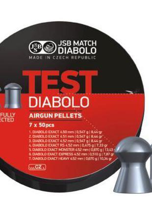 Пули пневматические JSB Diabolo TEST EXACT, 4.5 мм, 350 шт. (0...