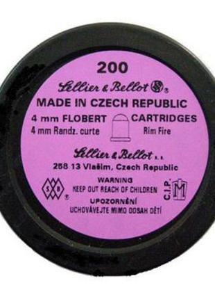 Пули пневматические Sellier & Bellot патрон Флобера, 4мм 200шт...