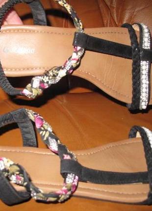 Чорні босоніжки graceland р41 еко шкіра