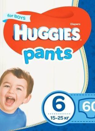 Подгузник Huggies Pants 6 для мальчиков (15-25 кг) 60 шт (5029...