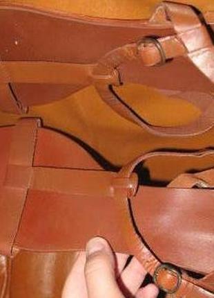 Коричневі босоніжки topshop р42 шкіра