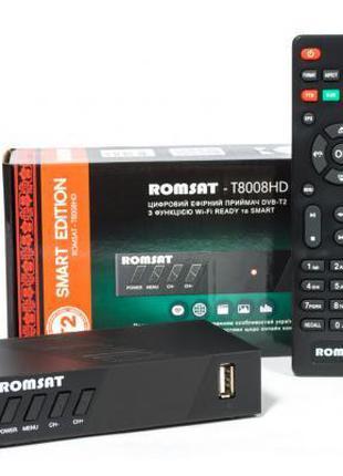 Цифровой эфирный ТВ тюнер Romsat T8008HD (кабельный ресивер), ...