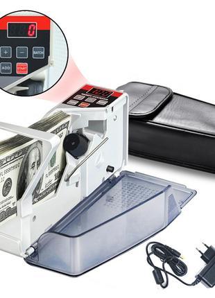 Счетчик банкнот купюр портативный, машина для пересчета YBC-V40