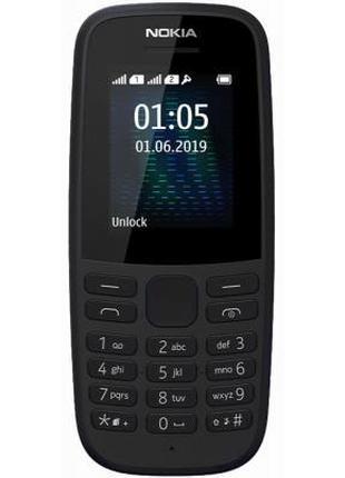 Мобильный телефон Nokia 105 SS 2019 (no charger) Black (16KIGB...