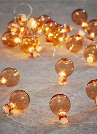 Гирлянда Luca Lighting гирлянда Лампочки орнаж, 2,4 м (8718861...