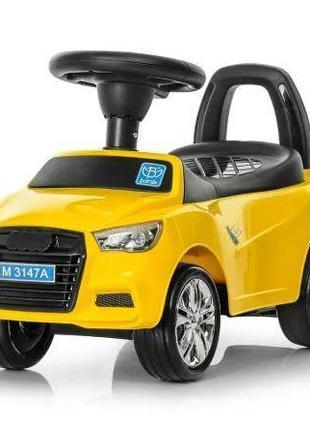 Детская каталка-толокар Bambi Audi M 3147A-6, желтая