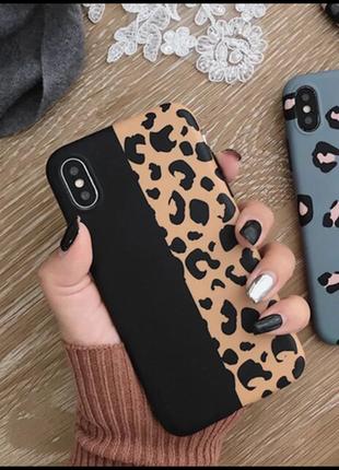 Новый силиконовый чехол в леопардовый принт на айфон iphone xs...