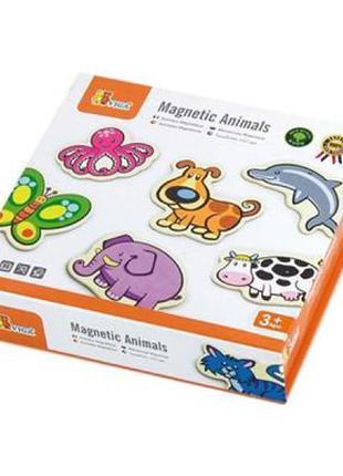 Развивающая игрушка Viga Toys В мире животных 20 шт, магнитные...