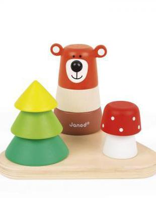 Развивающая игрушка Janod Пирамидка Лес (J08189)