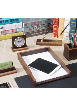 Настольный набор деревянный на подарок директору/бухгалтеру Be...