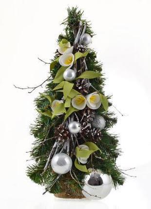 Искусственная елка 46 см с украшениями, YES! Fun Подснежник (9...