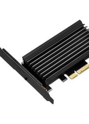 Плата расширения Silver Stone PCIe x4 до SSD m.2 NVMe Heatsink...
