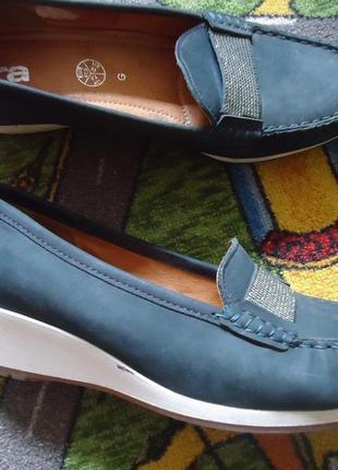 Мегакомфортные кожаные фирменные туфли лоферы ara