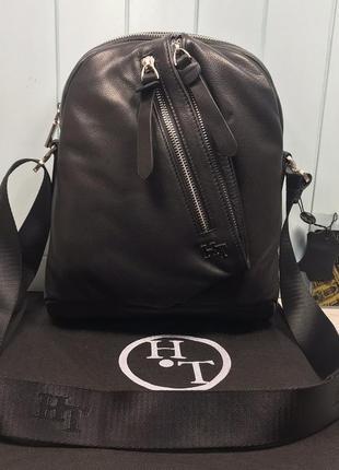 Мужская кожаная сумка h.t. leather через плечо чоловіча шкірян...