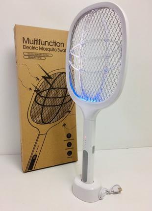 Электрическая мухобойка уничтожитель мух комаров mosqueto rocket