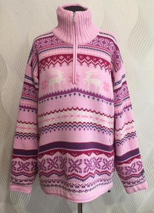 Шерстяной свитер с оленями ветровка с защитой от ветра f.lli c...