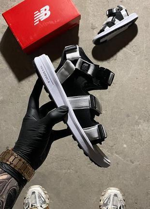 New balance sandals white black