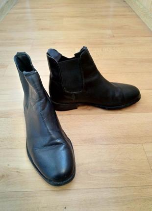 Стильные кожаные демисезонные ботинки!