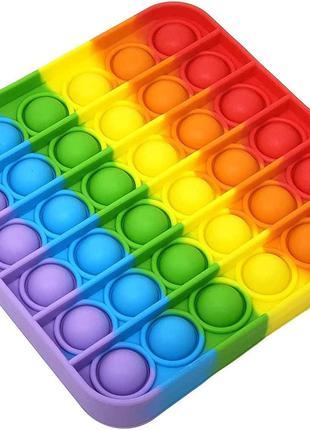 Антистресс сенсорная игрушка Pop It квадрат Силиконовая Поп Ит...