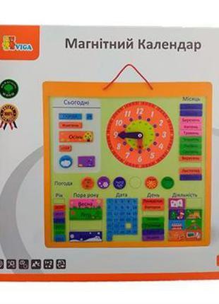 Развивающая игрушка Viga Toys Календарь магнитный (50377)