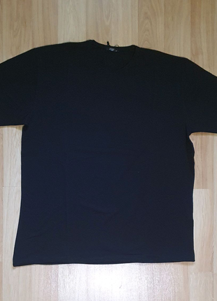 Черная футболка мужская батал