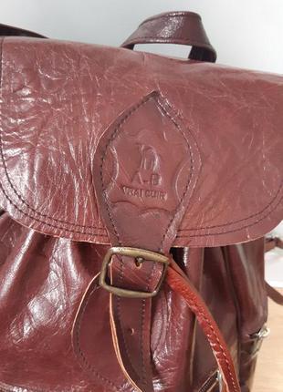Рюкзак натуральная кожа camel