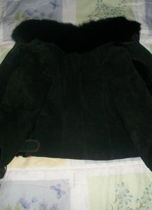 Куртка женская замшевая с чернобуркой!