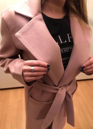 Крутое длинное кашемировое пальто