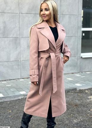 Крутое осеннее кашемировое пальто