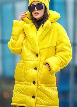 Крутая комбинированная куртка