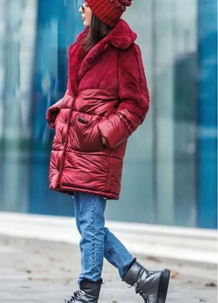 Стильная комбинированная куртка