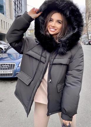Зимняя женская куртка парка