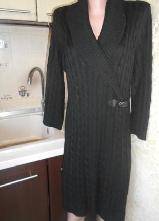#calvin klein#cтильное вязаное косами платье #теплое платье #б...