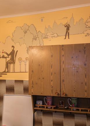Роспись интерьера, кухонный фартук.