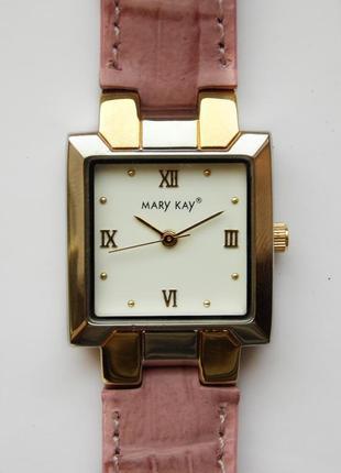 Mary kay часы из сша кожаный ремешок механизм japan sii