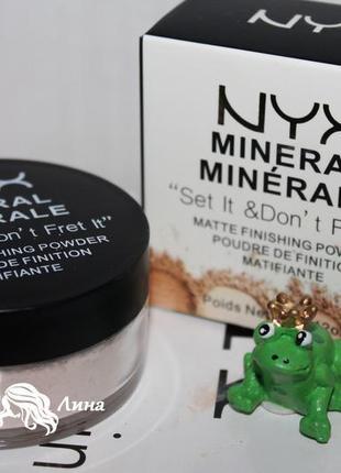 Минеральная пудра рассыпчатая mineral matte finishing powder т...